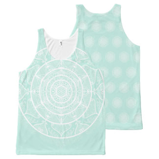 Sea Glass Mandala All-Over-Print Tank Top