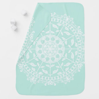 Sea Glass Mandala Baby Blanket