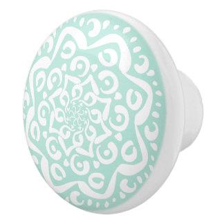 Sea Glass Mandala Ceramic Knob