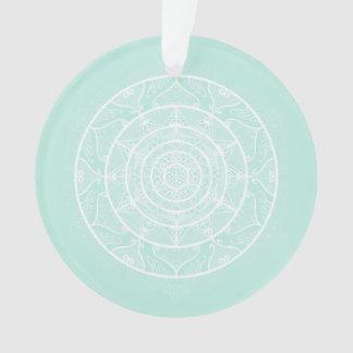 Sea Glass Mandala Ornament