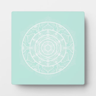 Sea Glass Mandala Plaque