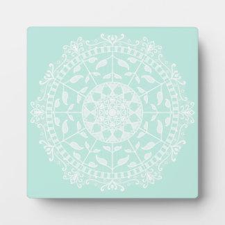 Sea Glass Mandala Plaque