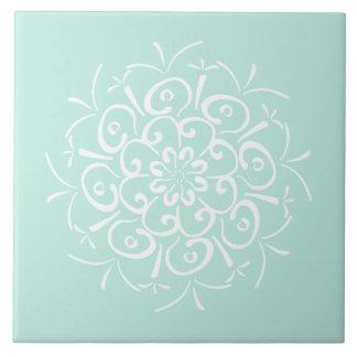Sea Glass Mandala Tile