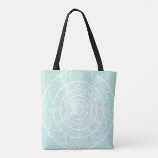 Sea Glass Mandala Tote Bag