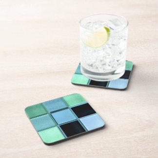 Sea Glass Mosaic coaster set with cork backs