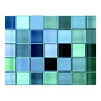 Sea Glass Mosaic Postcard ~ custom unique design