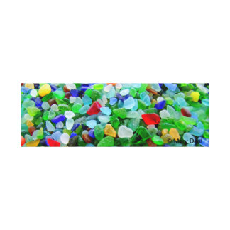 Sea Glass Mural Canvas Print