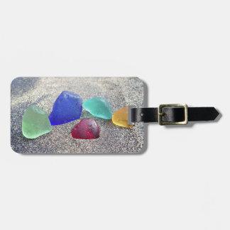 Sea glass rainbow at the sand luggage tag