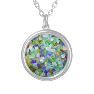 Sea Glass Silver Plated Necklace