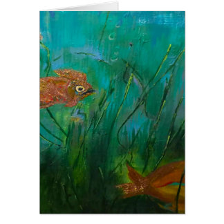 Sea Gold Greeting Card Blank