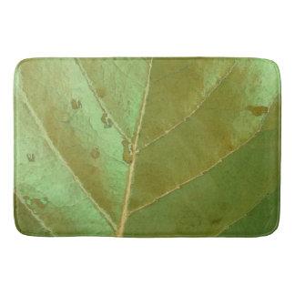 Sea Grape Leaf Closeup Bathroom Mat