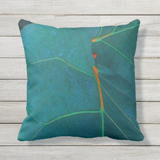 Sea Grape Leaves Outdoor Pillow