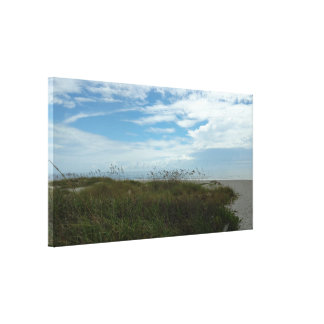Sea Grasses View Stretched Canvas Print
