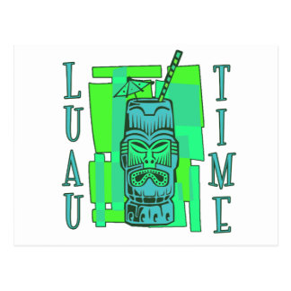 Sea Green & Blue Luau Postcard