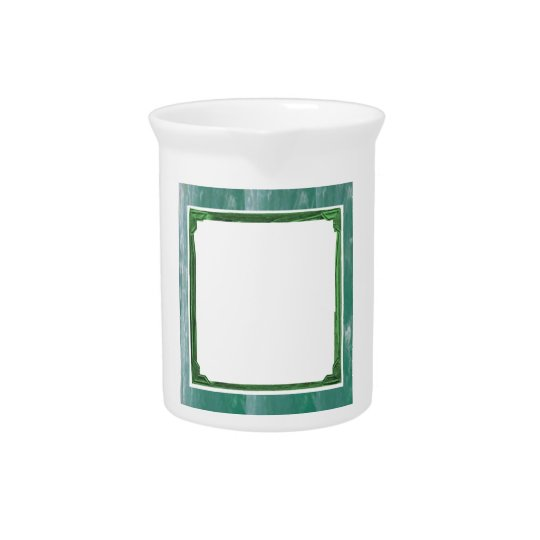 Sea Green Border Image / Text Holder Drink Pitcher
