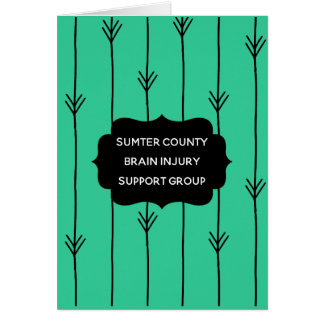 Sea Green Brain Injury Support Group Welcome Card