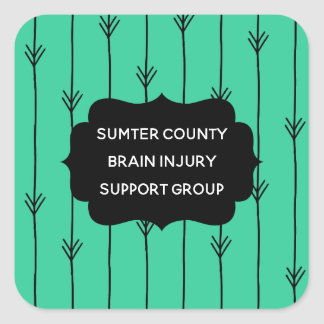 Sea Green Custom Brain Injury Support Group Square Sticker