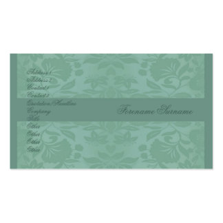 Sea Green Damask Mother's Day Business Card