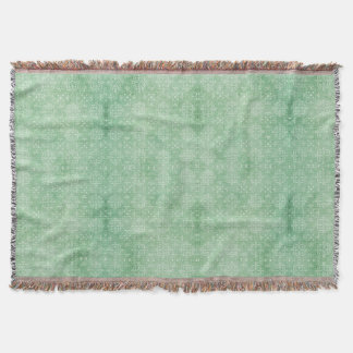 Sea Green Damask Print Throw Blanket