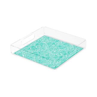 Sea Green Elegant flow Acrylic Tray