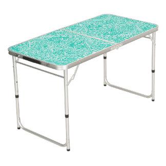 Sea Green Elegant flow Beer Pong Table
