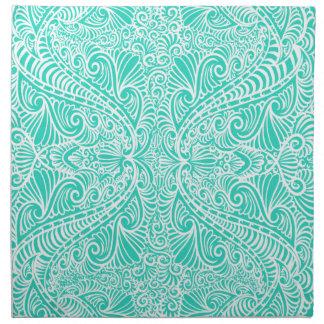 Sea Green Elegant flow Napkin