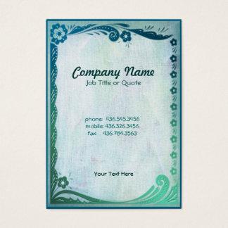 Sea Green Fantasy Business Card