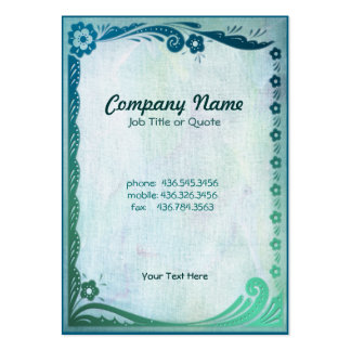 Sea Green Fantasy Pack Of Chubby Business Cards