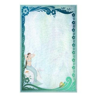 Sea Green Fantasy Stationery
