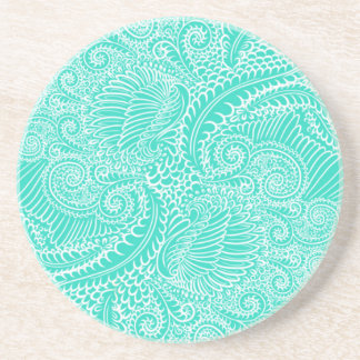 Sea Green Floral twists Coaster
