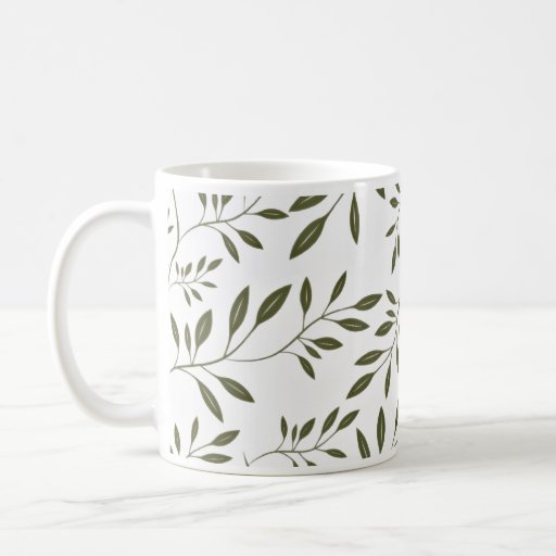 Sea Green floral wedding gift Coffee Mugs