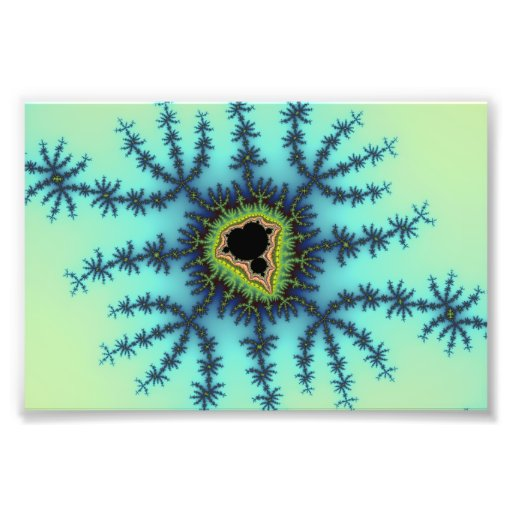 Sea Green Fractal Photo Print