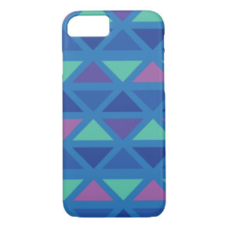 Sea Green- Fuschia Aztec Print iPhone 8/7 Case