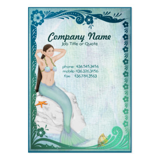 Sea Green Mermaid Fantasy Pack Of Chubby Business Cards