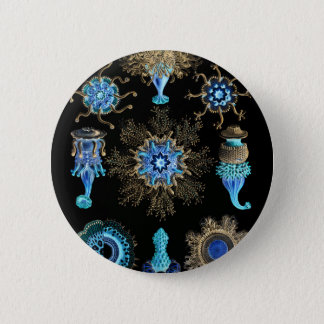 Sea Green Siphonophorae 2 Inch Round Button