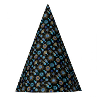 Sea Green Siphonophorae Party Hat