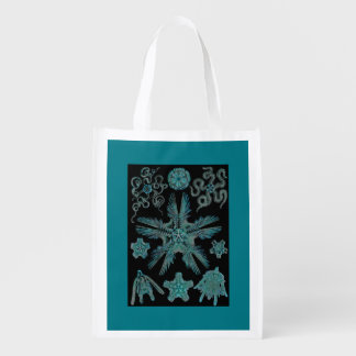 Sea Green Siphonophorae Reusable Grocery Bag