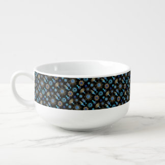 Sea Green Siphonophorae Soup Bowl With Handle