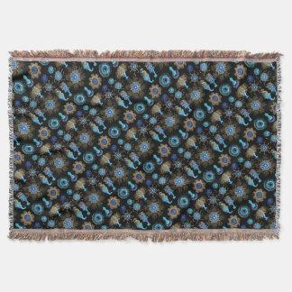 Sea Green Siphonophorae Throw Blanket