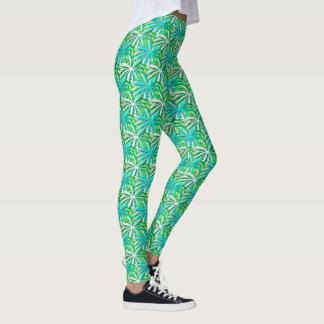 Sea green turquoise leggings