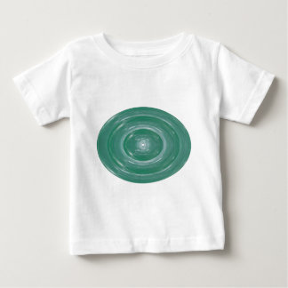 Sea Green Waves : Ovals n Rounds Baby T-Shirt
