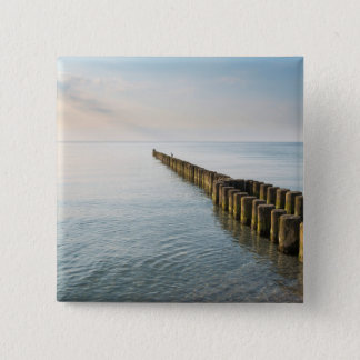 Sea Groynes 2 Inch Square Button