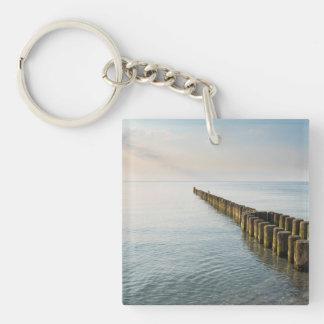 Sea Groynes Keychain