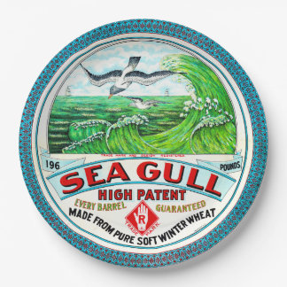 Sea Gull High Patent Flour 9 Inch Paper Plate