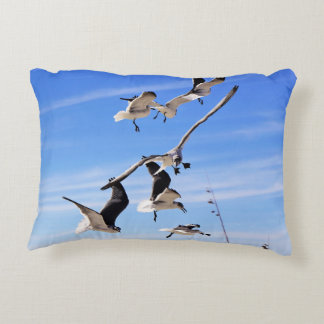 Sea Gulls On The Wing Accent Pillow