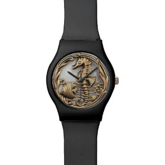SEA HORSE AND FISH DESIGN WATCH