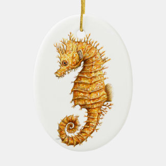 Sea horse Hippocampus hippocampus Ceramic Ornament