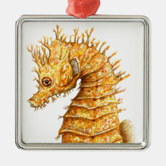 Sea horse Hippocampus hippocampus Metal Ornament