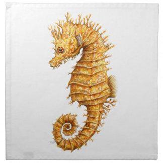 Sea horse Hippocampus hippocampus Napkin