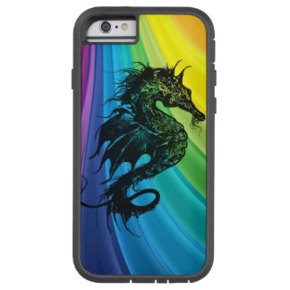 Sea Horse on Rainbow Tough Xtreme iPhone 6 Case